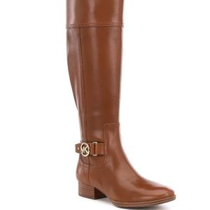 Michael Kors Harland Leather Riding Boots